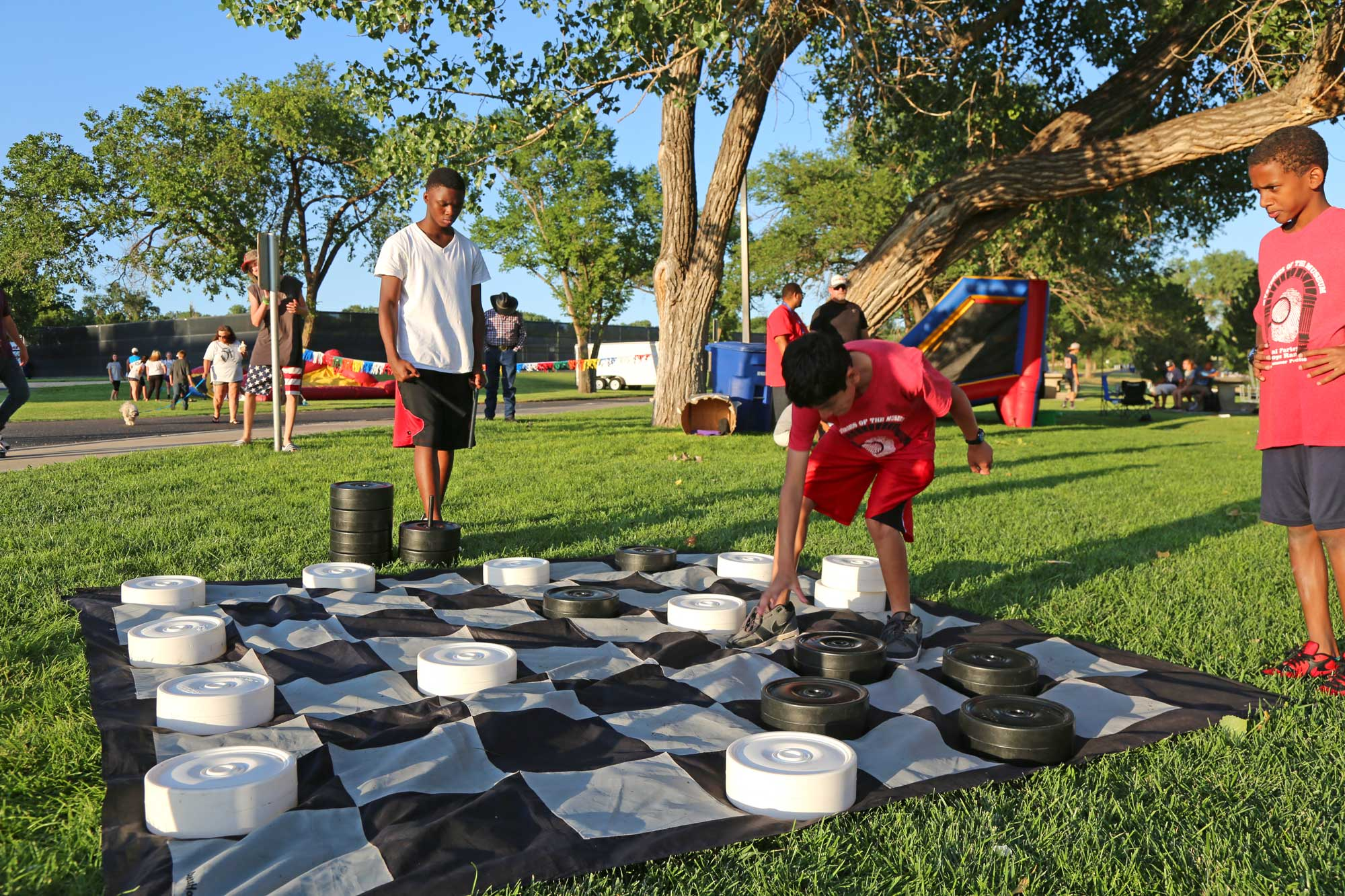 Residents play life size chess