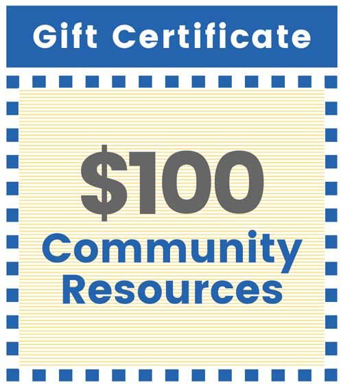 Give $100 for community resources for a child
