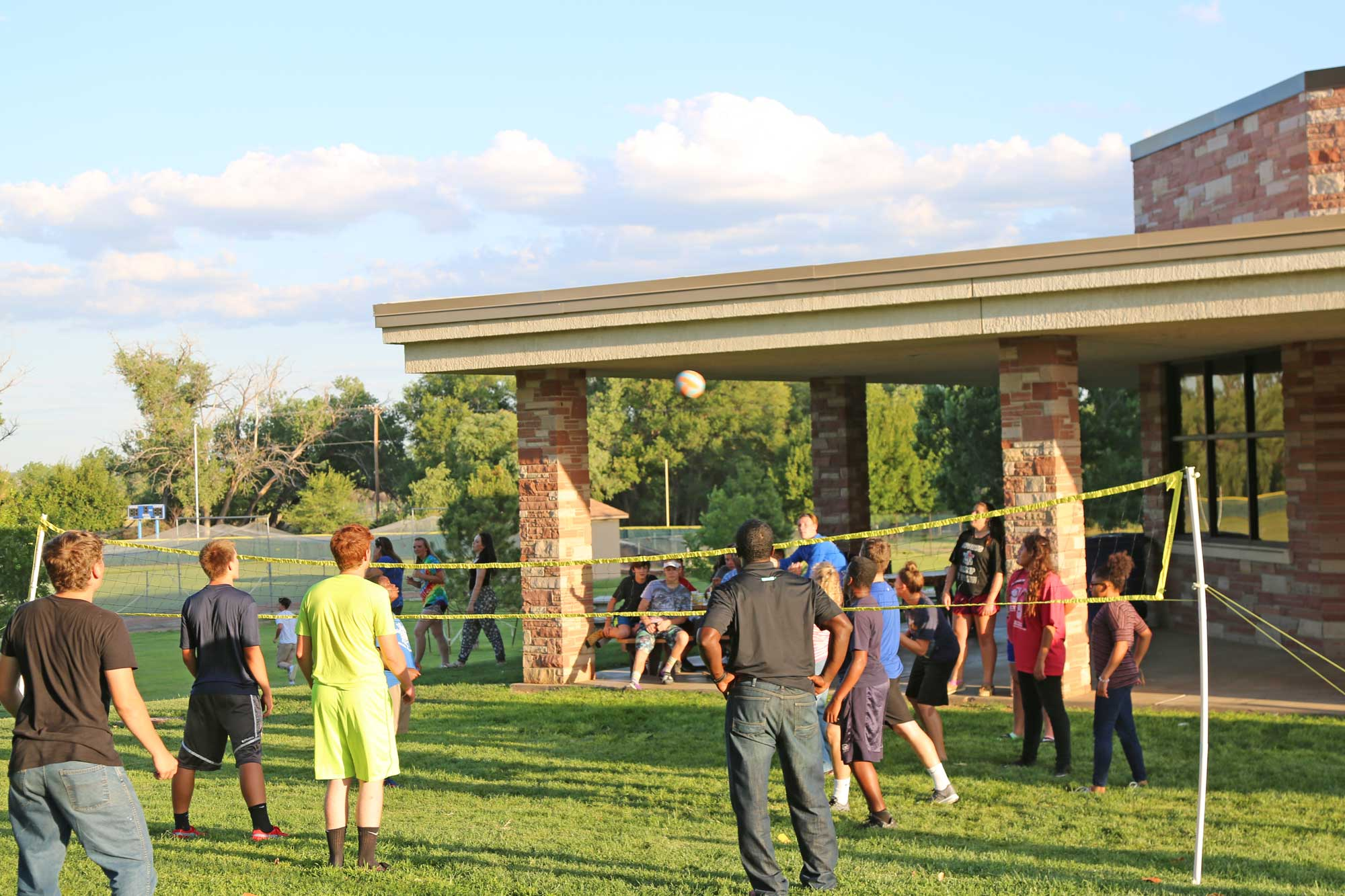 Image 1 of Staff-Resident volleyball game