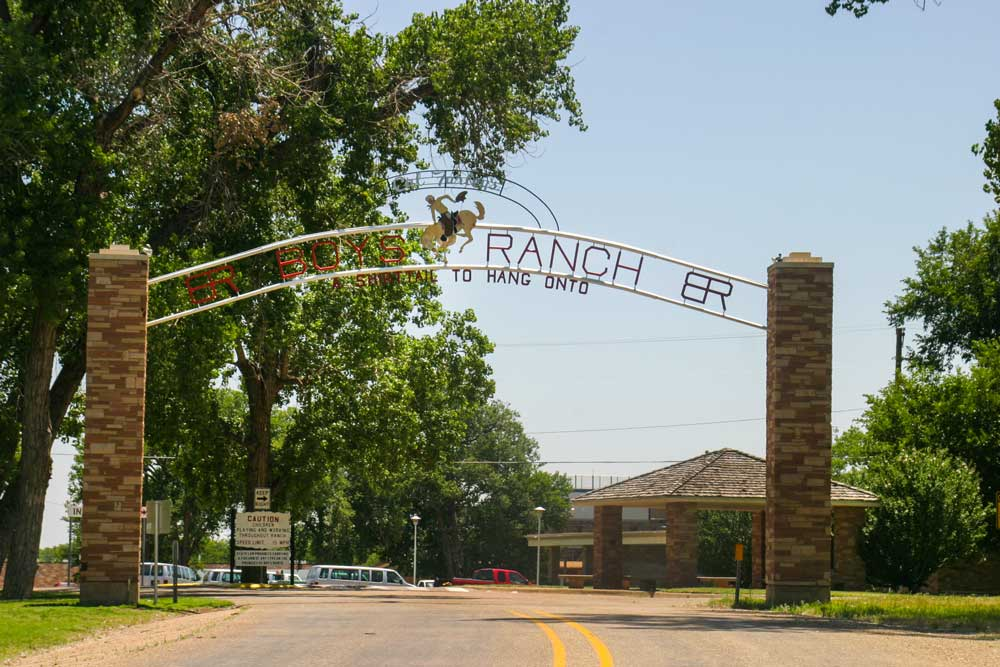 Boys Ranch entrance sign