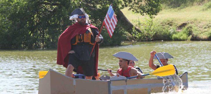 10th annual Boys Ranch cardboard boat races