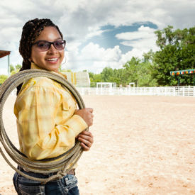 Amaya gives her best effort, in rodeo and in life