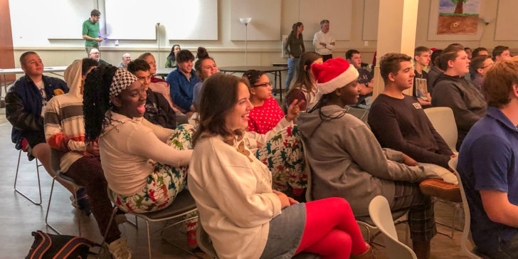 Chapel Vine Youth group celebrates Christmas with Boys Ranch youth