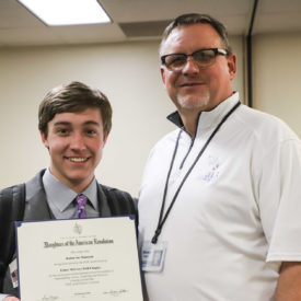 Boys Ranch youth, Kadan, receives DAR Good Citizen Award