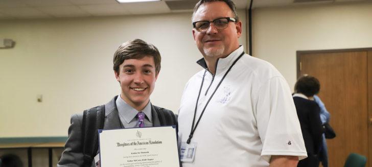 Boys Ranch youth, Kadan, receives DAR Good Citizen Award