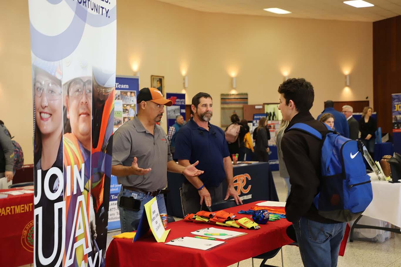 job hunting at career fair