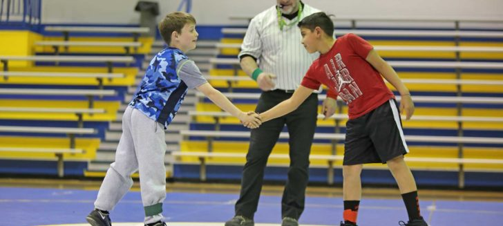 Mimi Farley Elementary celebrates Every Kid Healthy Week with wrestling duel