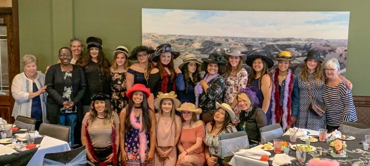 Young ladies from Boys Ranch's Class of 2019 celebrate with Senior Tea